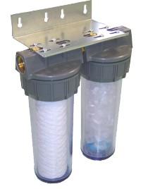 Dual ofiltre par traitement de l'eau