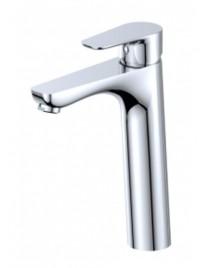 Mitigeur de lavabo haut chromé brillant