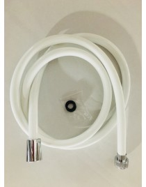 Flexible de douche blanc en PVC - 1,50 m