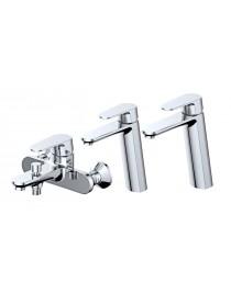Pack NAPLES : 1 mitigeur bain douche et deux mitigeurs vasque