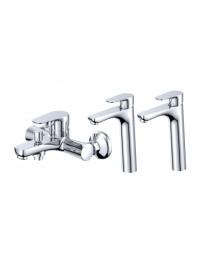 Pack ROMA : 1 mitigeur bain douche et deux mitigeurs vasque
