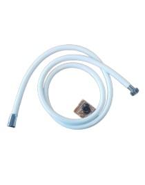 Flexible de douche blanc en PVC - 1,50 m